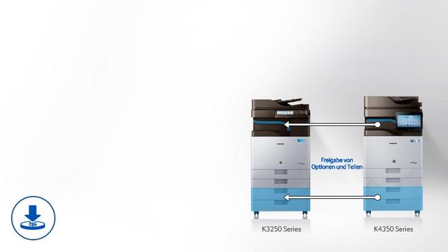 Kserokopiarka monochromatyczna Samsung SL-K3300NR - 25 str/min, duplex, 2 kasety, stolik, toner pełnowartościowy - gotowa do pracy