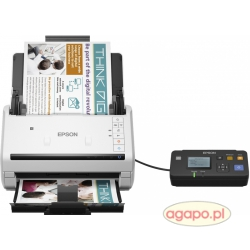 Skaner Epson WorkForce DS-570W Wi-Fi Direct + 5 lat gwarancji A4 do 413 g/m² do 600x600 dpi prędkośc skanowania 35 str./min (mono,kolor)